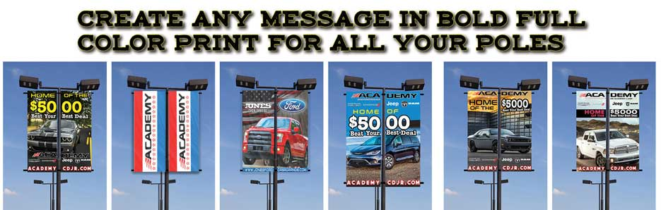 Custom Light Pole Flags and Banners