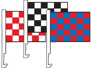 Checkered Window Flags