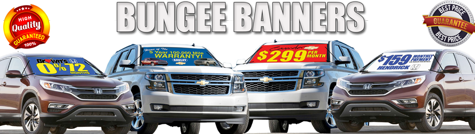 Windshield Bungee Banners