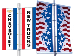 Light Pole Drape Flags and Banners